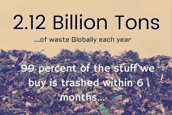 Tons of waste