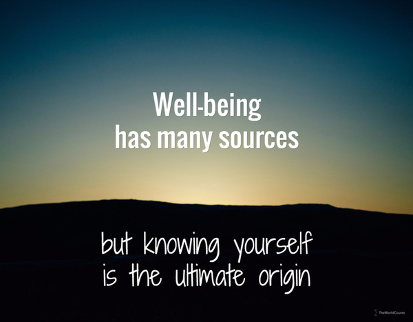 Well being has many sources