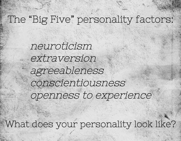 The big five personality factors include