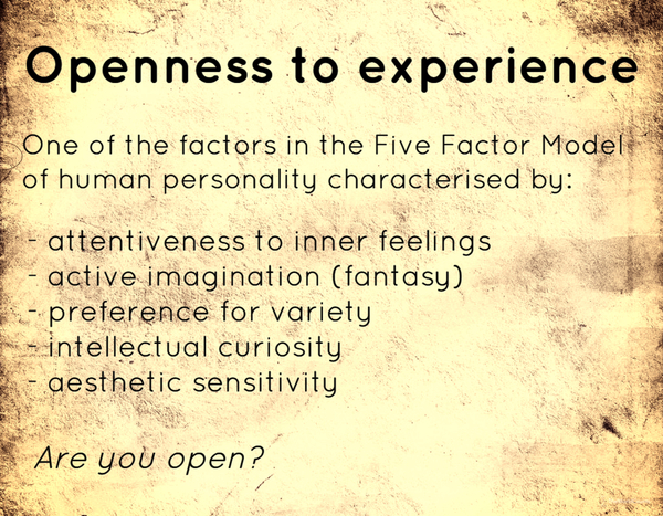 Openness to experience definition