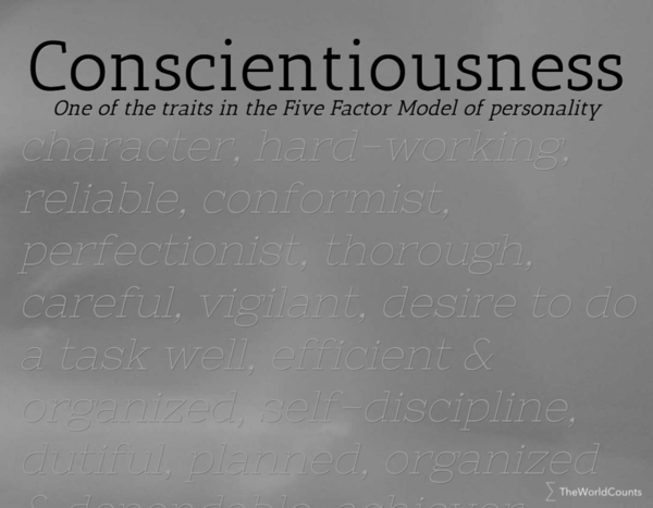 Conscientiousness definition psychology - The World Counts
