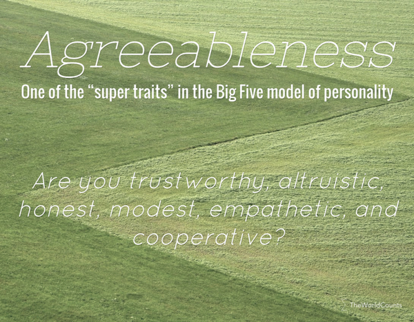 Define agreeableness personality trait - The World Counts