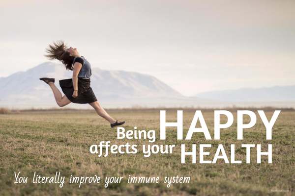 Being happy affects your health and immune system