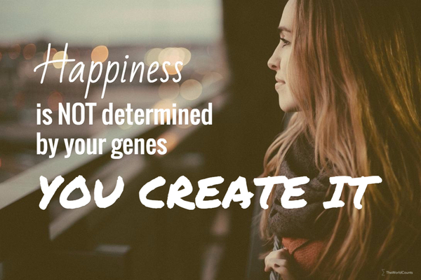 Happiness is not determined by your genes